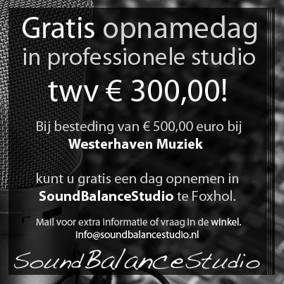 Gratis opnamedag in SoundBalanceStudio!